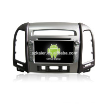 7 inch android 4.4.2 car dvd for 2010-2012 Santa Fe +support Mirrior link +DVR +obd2+High level with three hole