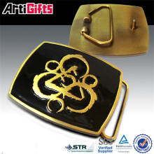 Promotion cheap metal hook and loop belt buckle