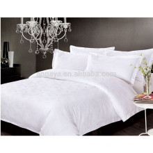 Ensemble de literie en satin de luxe Hilton Hotel Flat Sheet Fitted Sheet Pillow Case