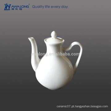 Simples, branca, condimento, pote, fino, porcelana, restaurante, hotel