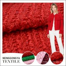 Tipos diferentes feitos sob encomenda de China do tecido de lã de tweed elegante