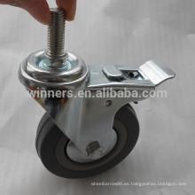 "Ruedita de goma gris giratoria de 4 ""con rueda giratoria"