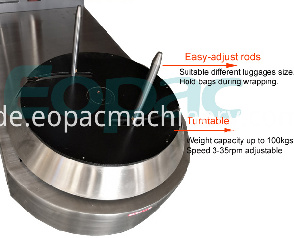 Automatic Airport Luggage Baggage Wrapping Machine