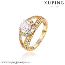 12745- China Xuping Falso 18k Jóias de Ouro Mulher Bonita Anéis