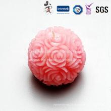 Delicate Unscented Rose Ball Kerze für Hochzeit