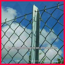 Temporal, construcción, cadena, cerca, postes