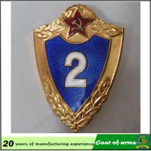 Emblème / armoiries de bouclier en métal adapté aux besoins du client