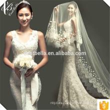 El más nuevo modelo vestido de boda barato elegante de la sirena del cordón 2016 de la fábrica de China