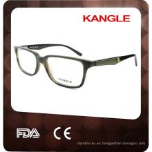 2017 Muy buen diseño nuevo Hombres estilo Acetato gafas ópticas