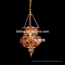 Marokkanische Hängelaterne, goldene marokkanische Dekolampe