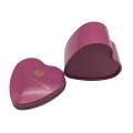 Impression faite sur commande de gaufrage d'impression de boîte de sucrerie de cadeau de mariage de forme de coeur