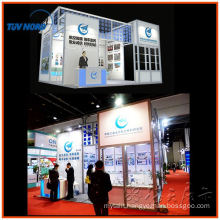 2014 modern exhibition booth display aluminum system cosmetics booth for trade show