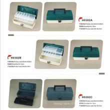 Boîte en plastique multifonctionnelle extérieure de pêche