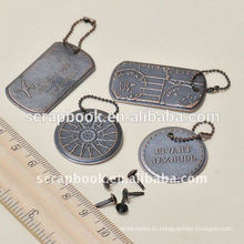 античный металлические бирки металлические Шарм