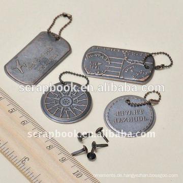 Antik Metall Tags Metall Charme