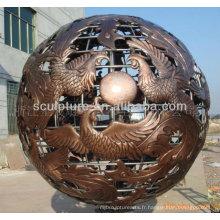Modern Large Garden Arts Résumé Sculpture en acier inoxydable à vendre