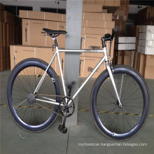 700c Single Speed Silver Color Hi Ten Steel Racing Bicycle Sports Bikes Cycling Fixed Gear Bikes