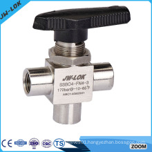 High performance Instrument angle pattern ball valve