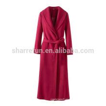 Abrigo de cachemir 100% femenino de 2015AW