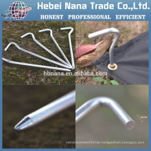 Hot sale Aluminum screw tent pegs / Camping tent pegs small metal pegs