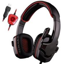 Fones de ouvido de jogos Fones de ouvido de cabeça com microfone