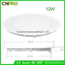 LED Recessed Panel Light 12W for Bathroom Bedroom Kitchen Office Supermarket