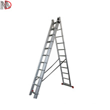 3 sections Aluminum Foldable Extension Ladders with EN131