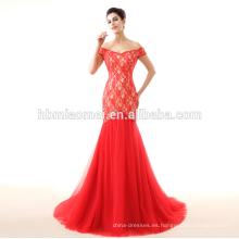 vestido de novia rojo 2017 nuevos vestidos de novia del cordón de la sirena modelo