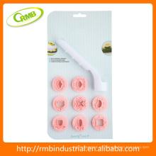 Pastel de plástico conjunto de moldes de sellos