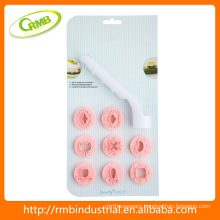plastic cake Stamp mould set