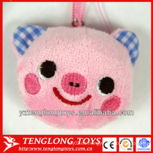 Lovely Pig Head Diseño Plush Screen Cleaner Teléfono móvil pantalla de limpieza