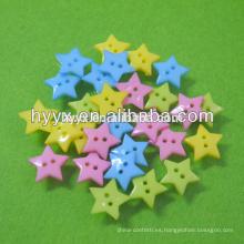 Botón plástico de forma de estrella