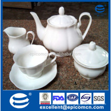 pure white ware new bone tea set with 17pcs