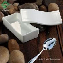 Única tigela de cerâmica retangular para crianças com tampa tigela de porcelana