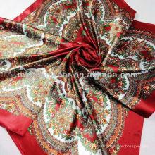 Bufanda de seda barata al por mayor del cuadrado de la gasa de la bufanda de Paisley