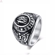 2017 custom stainless steel signet engraved men eagle rings