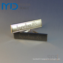 Shoes Metal Lables and Garment Zinc Alloy Tags with English Alphabet Logo