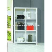 American style MDF white low bookshelf