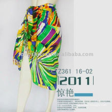 beach sarong with colorful stripes