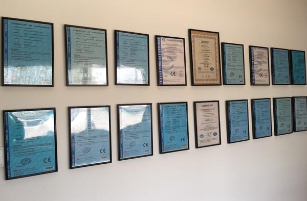 Pasta extruder line certificate