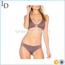 Factory direct online wholesale buckle bra and shorts brakini swimwear