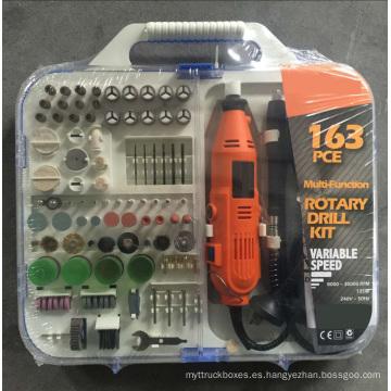 135W Portátil Hobby Mini Grinder Rotary herramientas accesorio conjunto con Flex Shaft Handheld eléctrico 163pcs Multi Tool Kit