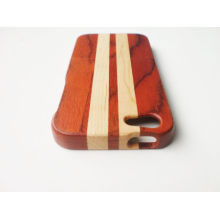 Red Rosewood & Maple Mixed Strip Iphone 5 Wood Cases,phone Wood Skin
