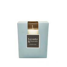 Glass scent Candle with box