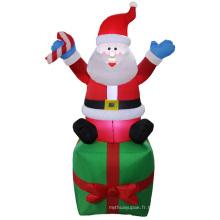 Figurine gonflable du Père Noël de Noël