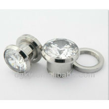 Body Piercing Joyería Big Zapata Zircon Ear Plug Expander