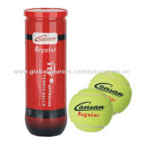 ITF-approved Tennis Balls, Extra Duty Woven Felt from Tex-Tech Industries, 3pc in PET Tube