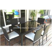 Pátio de jardim ao ar livre UV Weather Resistant cadeira de Rattan Dinng