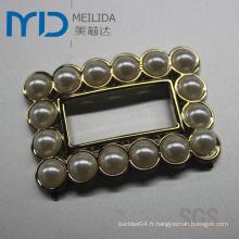 Boucle de chaussure en acrylique et strass pour dame (MDP123122)