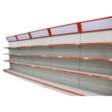Yuanda Single Side Supermarket Shop Gondola Display Pegboard Metal Steel Shelf Rack with Light Box Yd-008